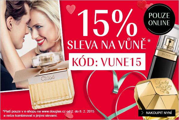 Sleva na všechny parfémy 15 % v Douglas.cz