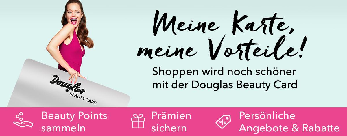 Die Douglas Beauty Cards - Nie war shoppen schöner.