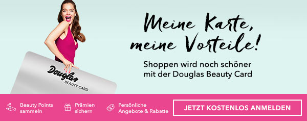 Die Douglas Beauty Cards - Nie war shoppen schöner.