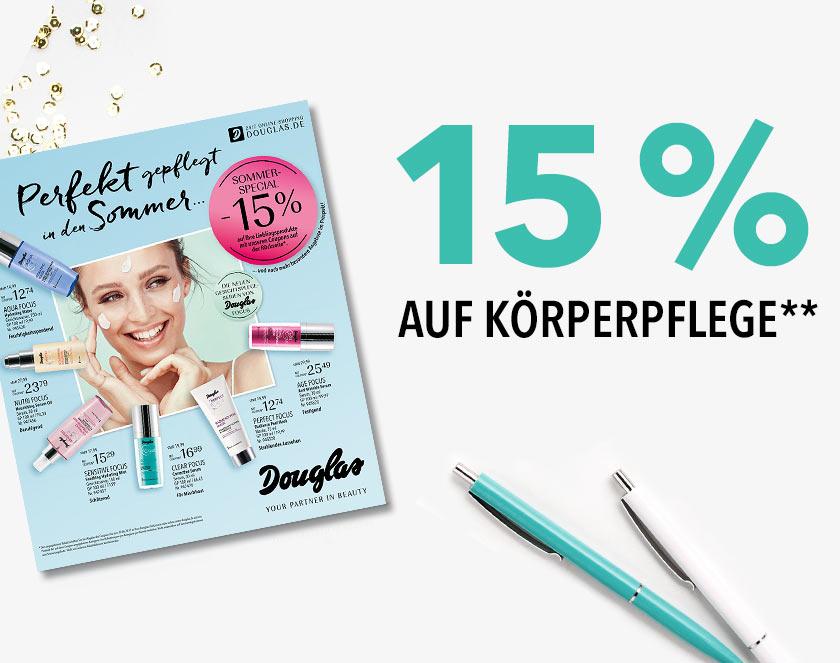 15 % auf Körperpflege**