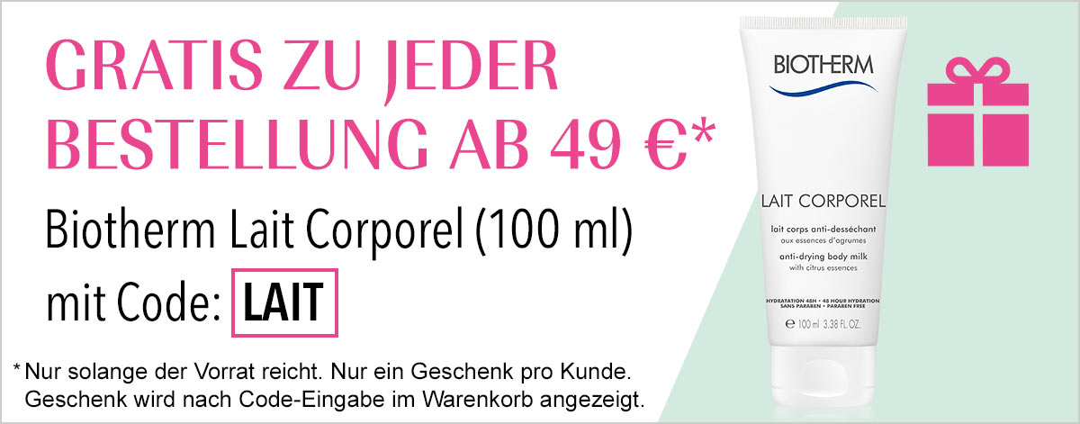 Gratis zu jeder Bestellung ab 49€*: Biotherm Lait Corporel (100 ml)