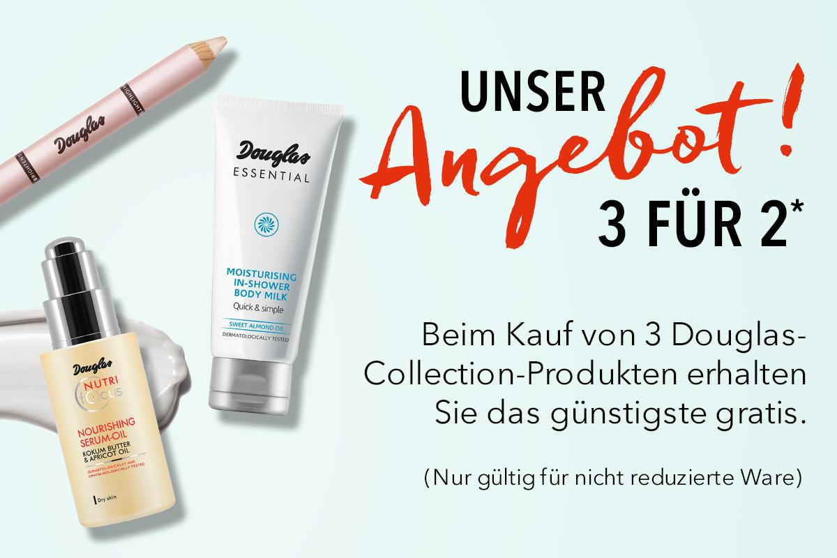 Beim Kauf von 3 Douglas-Collection-Produkten erhalten Sie das günstigste gratis.*